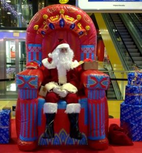 Visita Papá Noel en Navidad