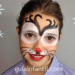 Maquillaje de reno para niños