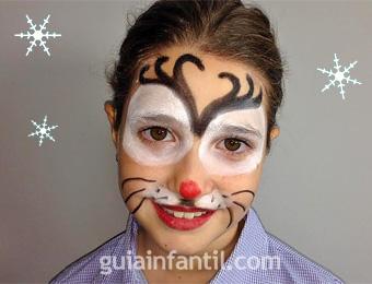 maquillaje de reno de navidad