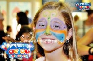 Maquillaje infantil sencillos de mariposa
