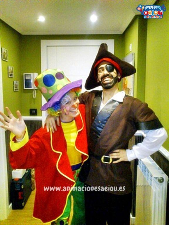 Animadores para fiestas temáticas con Piratas en Castellón